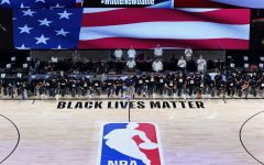 NBA players kneel during the National Anthem.