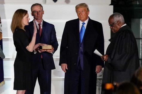 Barrett is sworn into the Supreme Court.