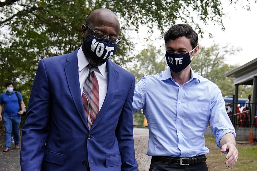 Jon Ossoff (Right), Raphael Warnock (Left)