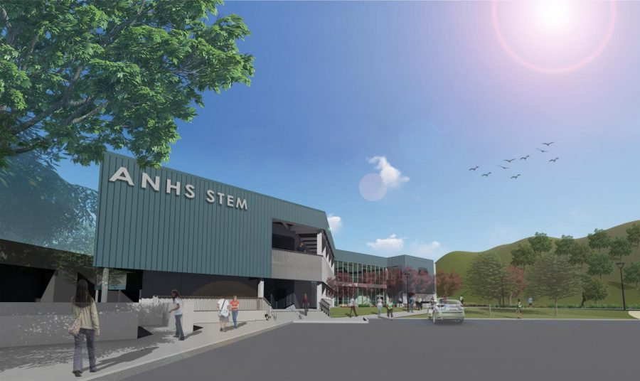 Students+Await+Arrival+of+the+New+STEM+Building
