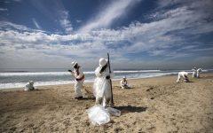 Oil Spill off the Coast of Huntington Beach
